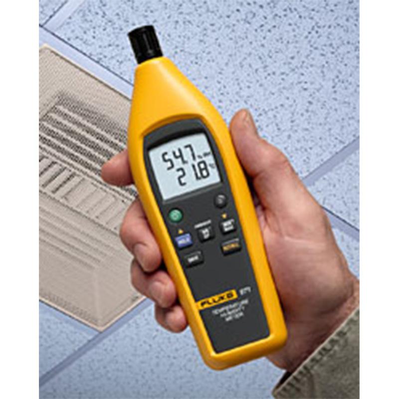 温湿度计,可测量温度、湿度、露点以及压缩空气系统的压力露点,NTC测温范围-40~150℃,分辨率0.1℃,湿度量程0%~100%RH,分辨率0.1%RH,可同时连接2个探头,显示最大/最小值及平均值。
